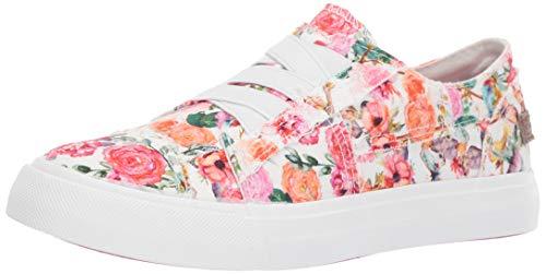 Blowfish Kids Girls' Marley-k Sneaker, Off Off White flowerfest Print Canvas, 4 Medium US Big Kid