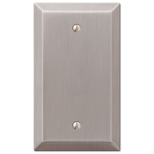 Single Blank 1-Gang Decora Wall Switch Plate, Satin Nickel
