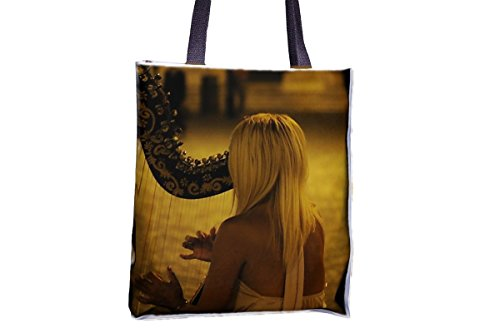 Harp, instrumento musical, Classical Allover Printed Totes, Popular Totes, Popular Womens Tote Bags, Professional Tote Bag, large Professional Tote Bags, BEST Tote Bags, BEST Large Tote Bags
