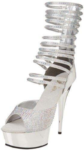 Pleaser Argent DELIGHT 35 600 Shoes USA rnpHwC0xqr