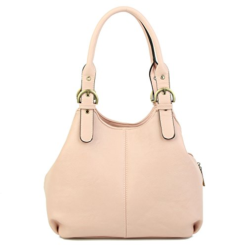 long New with strap Pink Size Shoulder lady Strap Pockets Long women's London Medium Womens Craze bags Multiple and Bag bag shoulder pw7Ux5Uq