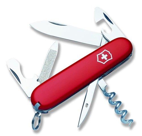 Victorinox Swiss Army Sportsman Pocket Knife (Red), Outdoor Stuffs