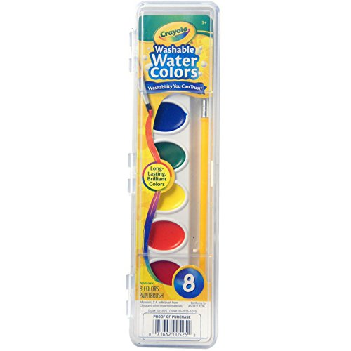 Crayola Washable Watercolors 8 ea (Pack of 50)