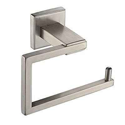 Leyden TM SUS304 Stainless Steel Wall Mounted Toilet Roll Paper Holder Rustproof Bathroom Tissue Roll Hanger, Square Type Brushed Finish