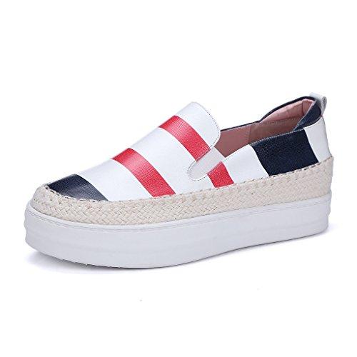 Sneakers Plateau Leder Slipper RoseG Damenmode Espadrilles Auf Rot PwgqtU85