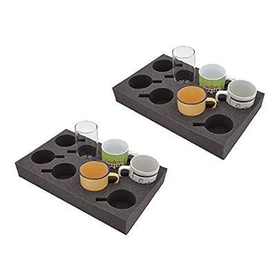 2 x Tassenhalter Glashalter Gläserhalter Platz für bis zu 8 Stück - Schaumstoff für Camping Wohnwagen Wohnmobile Boote…