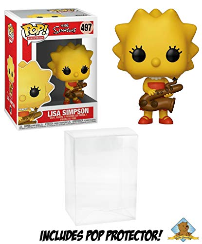Funko POP! The Simpsons Lisa Simpson with Golden Groundhog Plastic Protector!