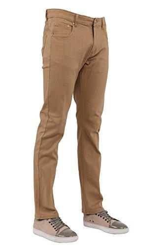 Perruzo Men's 720 Slim Jeans (38x32, Khaki)
