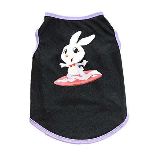 SMALLE ◕‿◕ Dog Clothing for Small Dogs, Puppy Easter Clothing Small Dogs Cute Pet Dog T-Shirts Costume for Small Dog Black