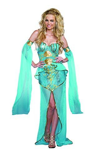 Dreamgirl Women's Sea Goddess Mermaid Costume, Turquoise