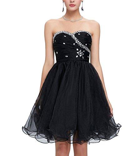 Kleid Cocktail Tüll Abendkleid Kurzes Korsett Schwarz für CoutureBridal® Brautjungfer pqHBAx6q