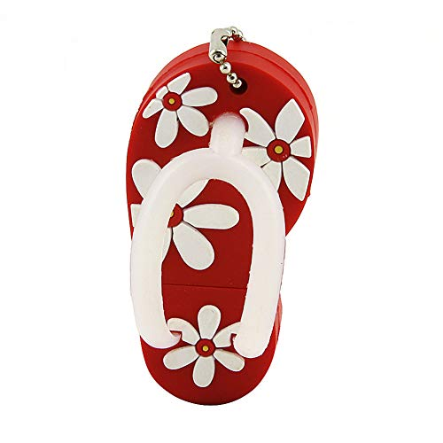 CHUYI 32GB USB Flash Drive with Flower Pattern Beach Sandal Pendrive with Key Ring Cap Memory Stick Cute Thumb Drive Gift - Compter Windows 7 With