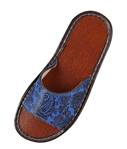 Womens Leather Toe Open Ladies Blue Cattior Slippers Slippers d6x4ndv