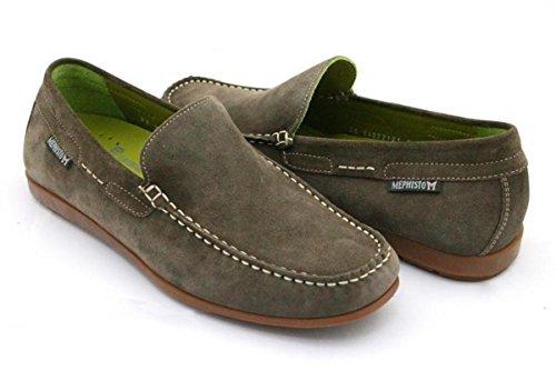 Mephisto ALGORAS VELOURS 9851 DARK BROWN P5051586 - Zapatos de cuero nobuck para hombre Dark Grey