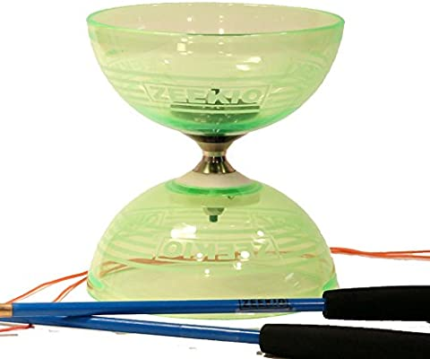 Zeekio Crystal Series Master Spin Diabolo – Rodamiento triple ...
