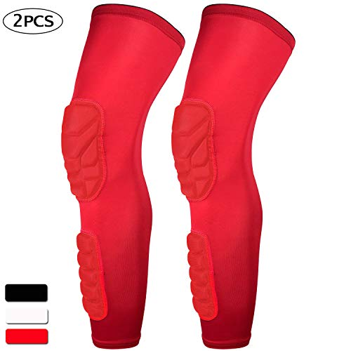 632ff77b15 HOPEFORTH 2 Packs (1 Pair) Knee Calf Padded Compression Leg Sleeve Thigh  Sports Protective