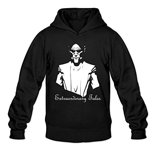 Extraordinary Tales White Drawing Hoodies