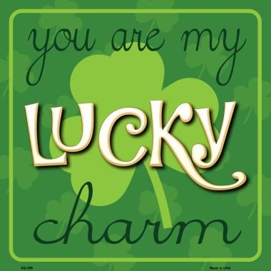 You My Lucky Charm Novelty Metal Square Sign - Sundance Shops Square