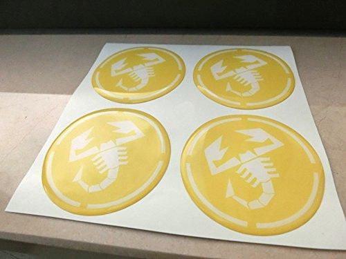 Gelb 50/mm Tuning Effekt 3d 3/m geharzt Radkappen Nieten Caps Aufkleber Stickers f/ür Alufelgen X 4/St/ück