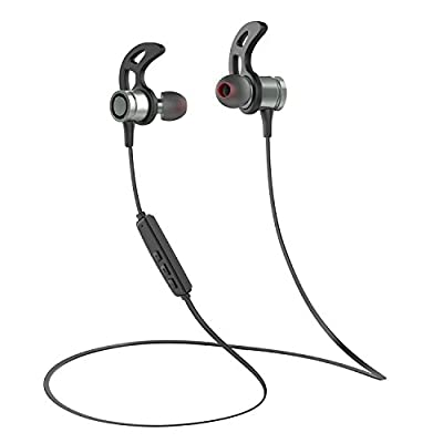 Hicober T7 Bluetooth Headphones, Wireless 4.1 In-Ear Earbuds Magnetic Sport Stereo Earphones with Mic for Streaming Music and Phone call - Update Version