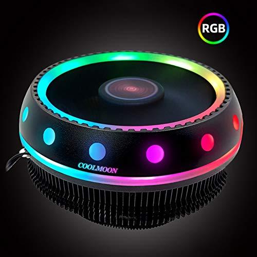 CawBing UFO Fantasy Color CPU Cooler Desktop Host Mute Universal RGB Color Computer Cooling CPU Fan