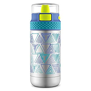Ello Ride Stainless Steel Water Bottle, Navy/Teal, 14 oz
