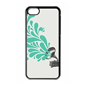 iPhone 5c Cell Phone Case Black Gramophone WH9471092
