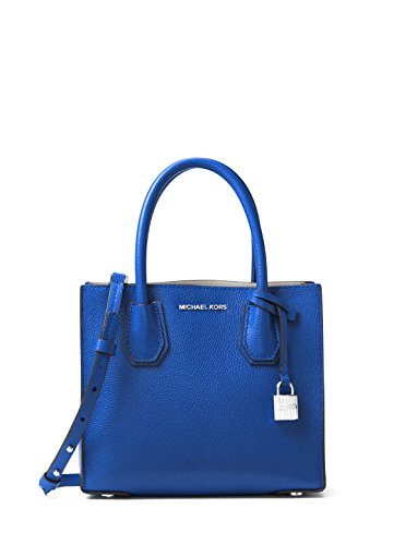 MICHAEL Michael Kors Mercer Medium Leather Crossbody Bag - Electric Blue by Michael Kors
