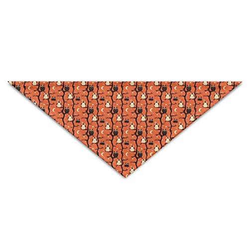 Soft,Absorbent,Cotton Polyester,Halloween Owl Tree Baby Pet Triangle Head Scarfs Dog Scarves Puppy Triangle