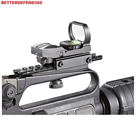 GOTICAL Red & Green Dot Open Reflex Sight Scope 4 Reticles & Carry Handle Picatinny Rail Scope Mount (Best Ar Open Sights)