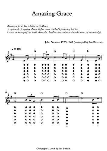 Amazon.com: Amazing Grace for Tin Whistle with Chords eBook: Ian ...