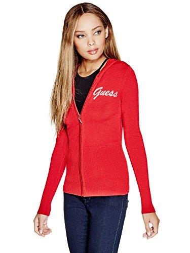 Rhinestone Trim Sweater - G by GUESS Tali Logo Cardigan