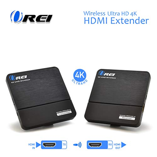 Orei Wireless Pro UltraHD HDMI Extender Transmitter & Receiver Dongle - Up to 4K @ 30Hz - Upto 100 Feet - Perfect for Streaming from Laptop, PC, Cable, Netflix, YouTube, PS4 to HDTV/Projector (4k Wireless Transmitter)