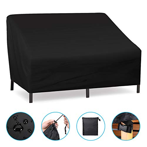 NASUM Patio Seat Cover, Lounge Deep Chair Cover, Patio Loveseat Cover, Durable and Waterproof Outdoor Furniture Chair Cover, Large Seat Patio Chair Cover, Oxford Cloth Cover 137x97x74cm/54x38x29in