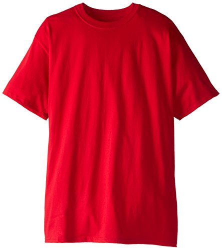 Mens Long T-shirts Tees - Hanes Men's Size Tall Short-Sleeve Beefy T-Shirt (Pack of Two), Deep Red, XX-Large