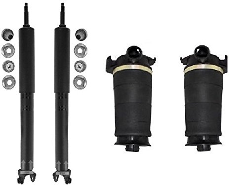 1997 - 2002 Lincoln Continental Rear Right & Left Air Suspension Bags + Shocks ( Excludes Electronic Rear Shocks ) by M1 Motoring