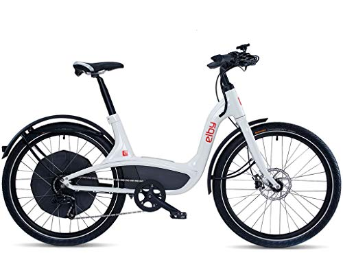 "Elby Bike 9 Speed Electric Bike, White, 16.5""/One Size"