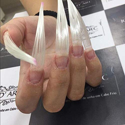 Maxbei 100pcs/set Fiberglass for Nail Extension Glass Fiber False Nails Manicure Salon Tool Accessories