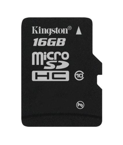 (Kingston 16 GB Class 10 MicroSD Flash Card SDC10/16GBSP)