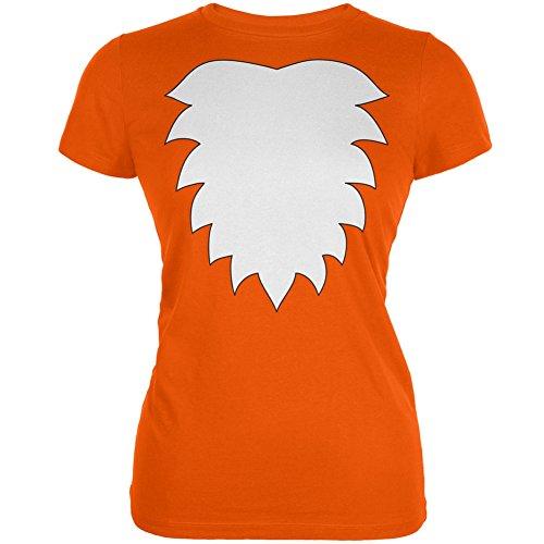 [Fox Costume Orange Juniors Soft T-Shirt - Medium] (Mr T Costumes)