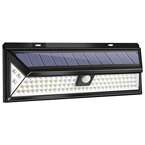 Usunlight 102 LED Solar Lights, Super Bright Solar Lights Outdoor, Solar Motion Sensor Light Outdoor with 270