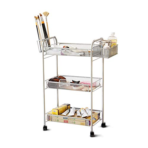 (Portable 3 Tier Easel Metal Painting Car Painting Tool Holder Sketching Outdoor Painting Car Art Painting Tool Cart)