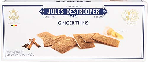 Jules Destrooper Ginger Thins, Belgian Ginger-Cinnamon Cookies, 3.35-Ounce Box (Pack of - Ginger Thins
