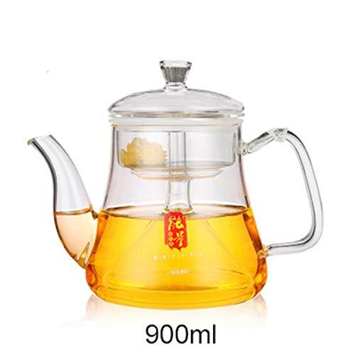 CNeuaiL Steamer Kettle Borosilicate Glass Tea Pot Health Flower Tea Kettle 34 Ounce / 900ml Microwave Stovetop Safe,A ()