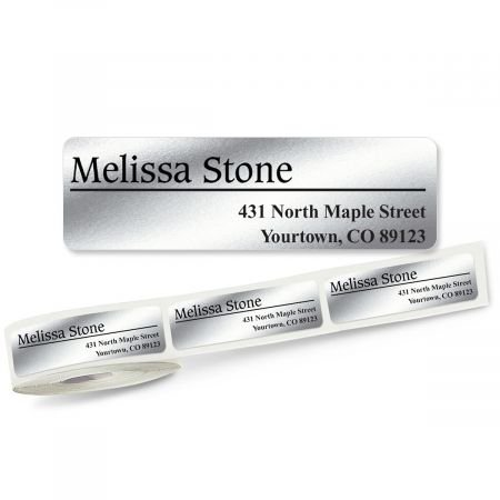 f54fc5776400 Amazon.com : Conventional Off-Center Silver Rolled Address Labels ...