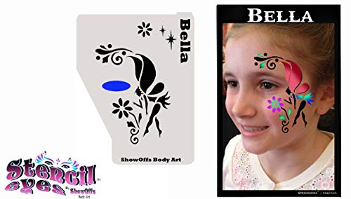 ShowOffs Body Art Face Painting Stencil - StencilEyes Profile Bella - -