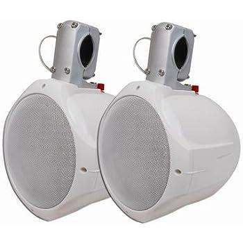"MCM Custom Audio 60-10030 8"" Marine Wakeboard Two-Way Speaker Pair - White"