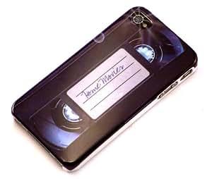 """""""Justo"""" Cinta de Video, Cubierta de plástico duro & """"Wow"""" Verde, Calcetín - para iPhone 4. Paquete único de Cubierta / Estuche / Carcasa / Funda - para iPhone 4 & Único Calcetín / Eunda / Estuche apto - para iPhone 4."""