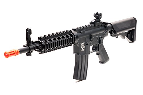 (Black Ops M4 Diamondback Airsoft AEG Rifle - Electric Fully Automatic Airsoft Gun - Upgradeable Gearbox and Internals - Shoot .20 .25 BB Ammo)