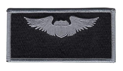 Pilot Name Patches - Air Force Pilot Wings Name Patch Silver And Black